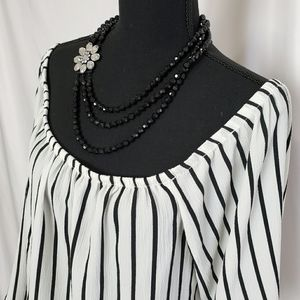 Ambiance Cropped off the Shoulders Blouse